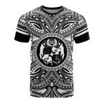 Tonga All T-Shirt - Tonga Coat Of Arms Polynesian White Black Bn10