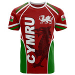 Wales T-shirt - Cymru Red Dragon - BN15
