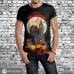 England T-Shirt - Halloween Lion In Night H1