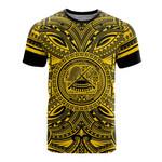 American Samoa All T-Shirt - American Samoa Coat Of Arms Polynesian Gold Black Bn10