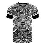 American Samoa All T-Shirt - American Samoa Coat Of Arms Polynesian White Black Bn10