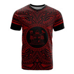 Fiji All T-Shirt - Fiji Coat Of Arms Polynesian Red Black Bn10