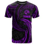 Tonga Polynesian All Over T-Shirt - Purple Tribal Wave - Bn12