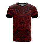 American Samoa All T-Shirt - American Samoa Coat Of Arms Polynesian Red Black Bn10