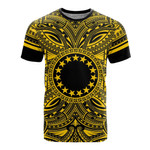 Cook Islands All T-Shirt - Cook Islands Coat Of Arms Polynesian Gold Black Bn10