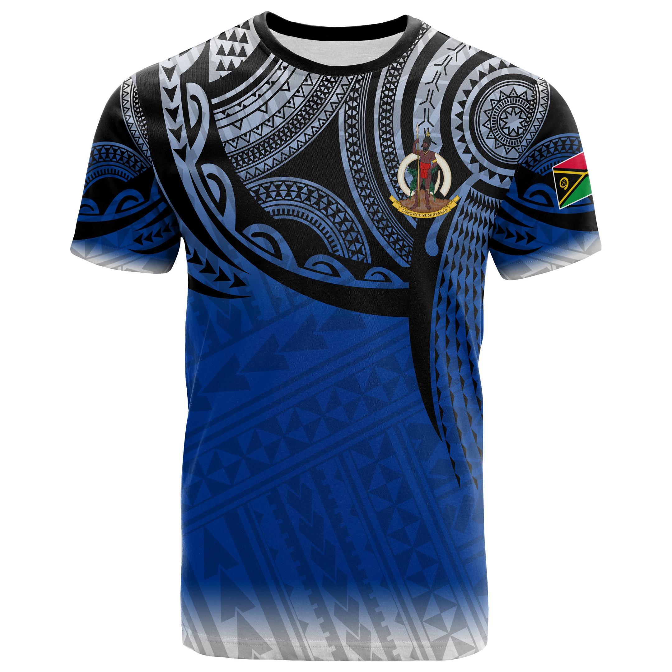 Vanuatu Polynesian T-Shirt - Tattoo Pattern - Bn12