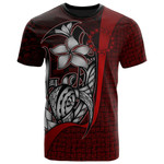Cook Islands Polynesian T-Shirt Red- Turtle with Hook - BN11