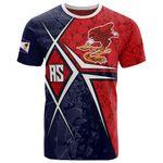 American Samoa T-shirt - AS Flag with Polynesian Patterns - BN15