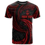 Guam Polynesian Custom Personalised T-Shirt - Red Tribal Wave - BN12