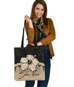 (Custom) Salaia Malufau Polynesian Tote Bag Hibiscus Personal Signature A02