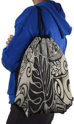Fabric Polynesian Tattoo Unisex Drawstring Backpacks Sport Leisure Bag A7