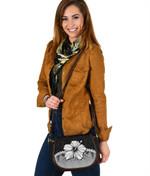 Polynesian Saddle Bag Hibiscus Gray | Love The World