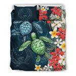 Pohnpei Bedding Set - Sea Turtle Tropical Hibiscus And Plumeria | Love The World