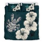 Niue Hibiscus Turtle Polynesian Bedding Set - Style Green A10