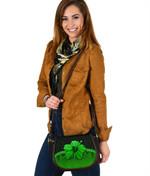 Polynesian Saddle Bag Hibiscus Green | Love The World