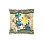Kanaka Maoli (Hawaiian) Pillow Cases - Polynesian Turtle Plumeria Blue A24