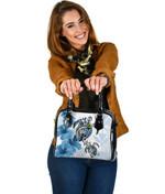 Hawaii Shoulder Handbag - Polynesian Turtle Hibiscus Blue | Love The World