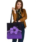 Polynesian Tote Bag Hibiscus Purple | Love The World