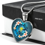 Hawaii Heart Shaped Necklace - Animal Tattoo Plumeria | Love The World
