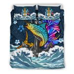 Bahamas Bedding Set - The Blue Marlin And Hibiscus | Love The World