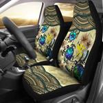 Kanaka Maoli (Hawaiian) Car Seat Covers - Polynesian Turtle Plumeria Blue A24