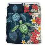 Guam Bedding Set - Sea Turtle Tropical Hibiscus And Plumeria | Love The World