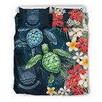 Kiribati  Bedding Set - Sea Turtle Tropical Hibiscus And Plumeria | Love The World