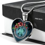Hawaii Heart Shaped Necklace - Turlte Mother Son Hibiscus | Love The World