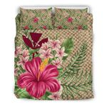 Kanaka Maoli ( Hawaiian) Bedding Set - Lauhala Hibicus and Plumeria | Love The World