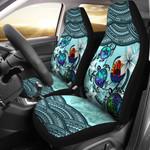 Tahiti Car Seat Covers - Polynesian Turtle Plumeria Blue A24