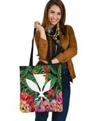 Kanaka Maoli (Hawaiian) Tote Bag - Coat Of Arms Tropical Flowers And Banana Leaves | Love The World