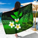 Kanaka Maoli (Hawaiian) Sarong, Polynesian Plumeria Banana Leaves Green | Love The World