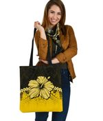 Polynesian Tote Bag Hibiscus Yellow | Love The World