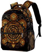 Polynesian Golden Tribal Sea Turtle Backpack Students Shoulder Bags Travel Bag College School Backpacks A7
