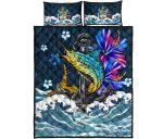 Bahamas Bedding Set - The Blue Marlin Hibiscus | Love The World