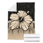 Polynesian Premium Blanket Hibiscus Gold| Love The World
