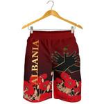 Albania Flag Double Eagle Hand Men's Shorts A15