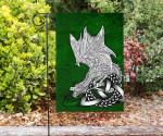 Celtic Flag - Celtic Dragon (Green) - BN18