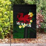 Wales Celtic Flag - The Y Ddraig Goch With Daffodil - BN23