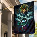 Celtic Be Blessed Wicca Flag - Occult Emblem of Witchcraft - BN21