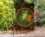 Ireland Celtic Flag - Ireland Coat Of Arms With Celtic Tree (Brown) - BN18