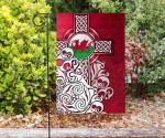 Wales Celtic Flag - Welsh Dragon Flag with Celtic Cross - BN18