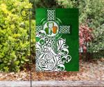 Ireland Celtic Flag - Irish Shamrock Flag With Celtic Cross- BN18