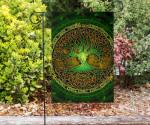 Celtic Flag - Celtic Tree (Green)- BN18