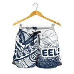 Eels Rugby All Over Print Women's Shorts Line Art Special Version A7