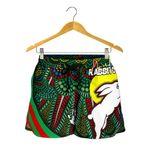 Rabbitohs Naidoc Week All Over Print Women's Shorts Indigenous Version Special A7