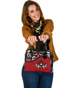 Canada Day Shoulder Handbag - Haida Maple Leaf Style Tattoo Red A02