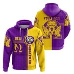 Omega Psi Phi Bull Dogs Sport Zip Hoodie A31