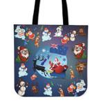 New Zealand Cartoon Santa Tote Bag