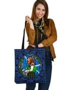 Scotland Highlander Men with Traditional Bagpipes Tote Bag
